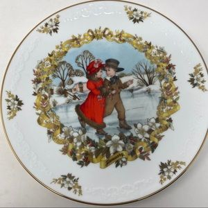 Franklin Porcelain The Old Almanac January Plate